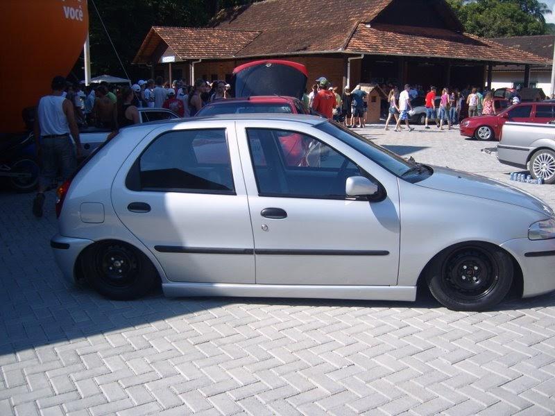 Carros Tunados Carros Tunados Palio Prata Totalmente