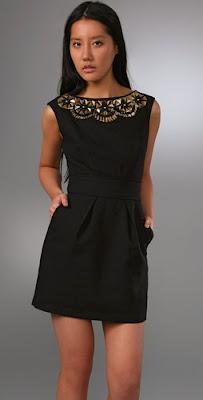 Milly Dress on Milly Beaded Neckline Mini Dress