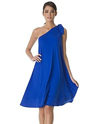 devil wears a blue dress