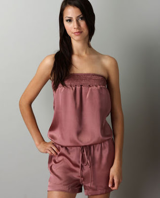 Temptress dusty rose satin romper at luluscom