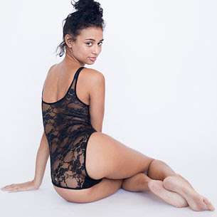 Floral Lace Bodysuit by American Apparel
