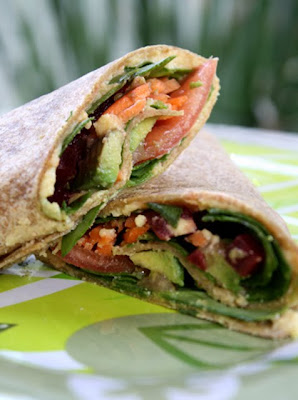 The 99 Cent Chef: Veggie Wrap with Hummus