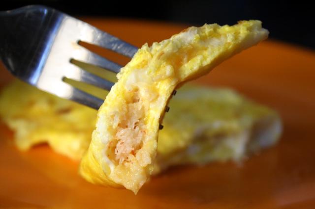 Омлет с крабовым мясом рецепт