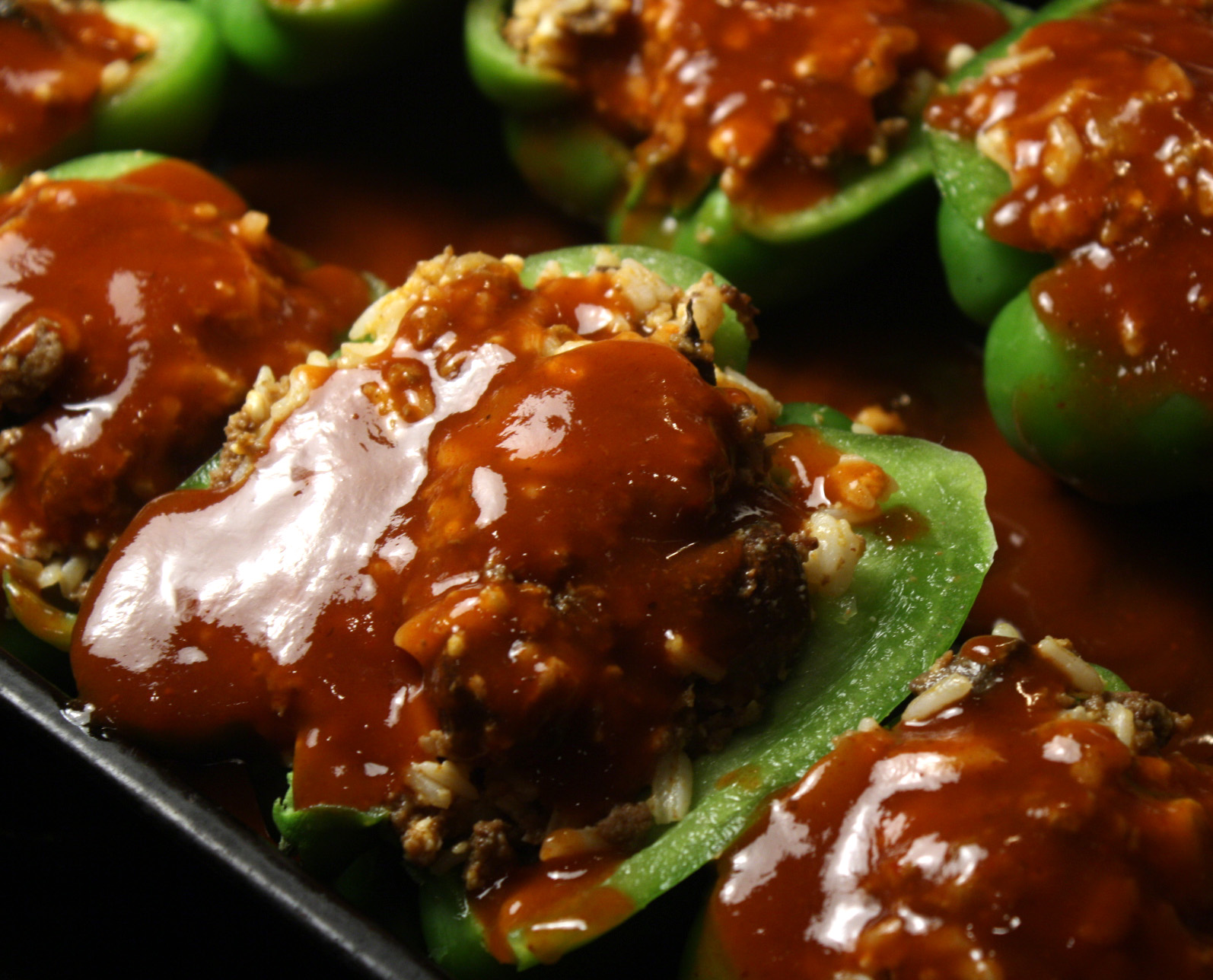 The 99 Cent Chef: Stuffed Bell Peppers - Mexican Style