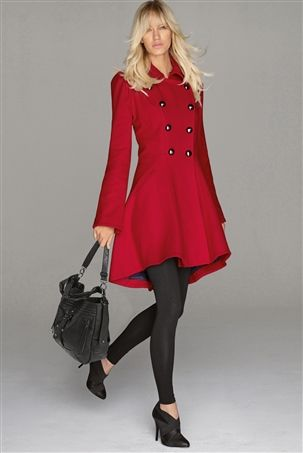 Red Petite Coat | Down Coat
