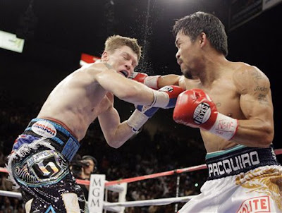 Pacman aims for the left hook
