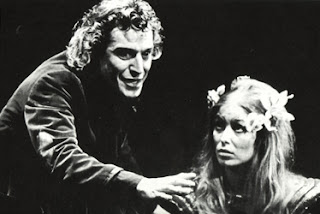 The wonderful Neil Cunningham as Hagbard, with Prunella Gee