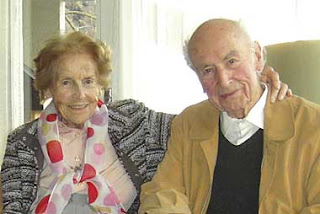 Anita and Albert on his 100th birthday