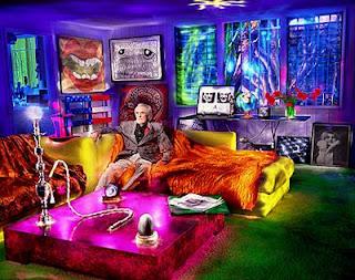 Tim in his drug room