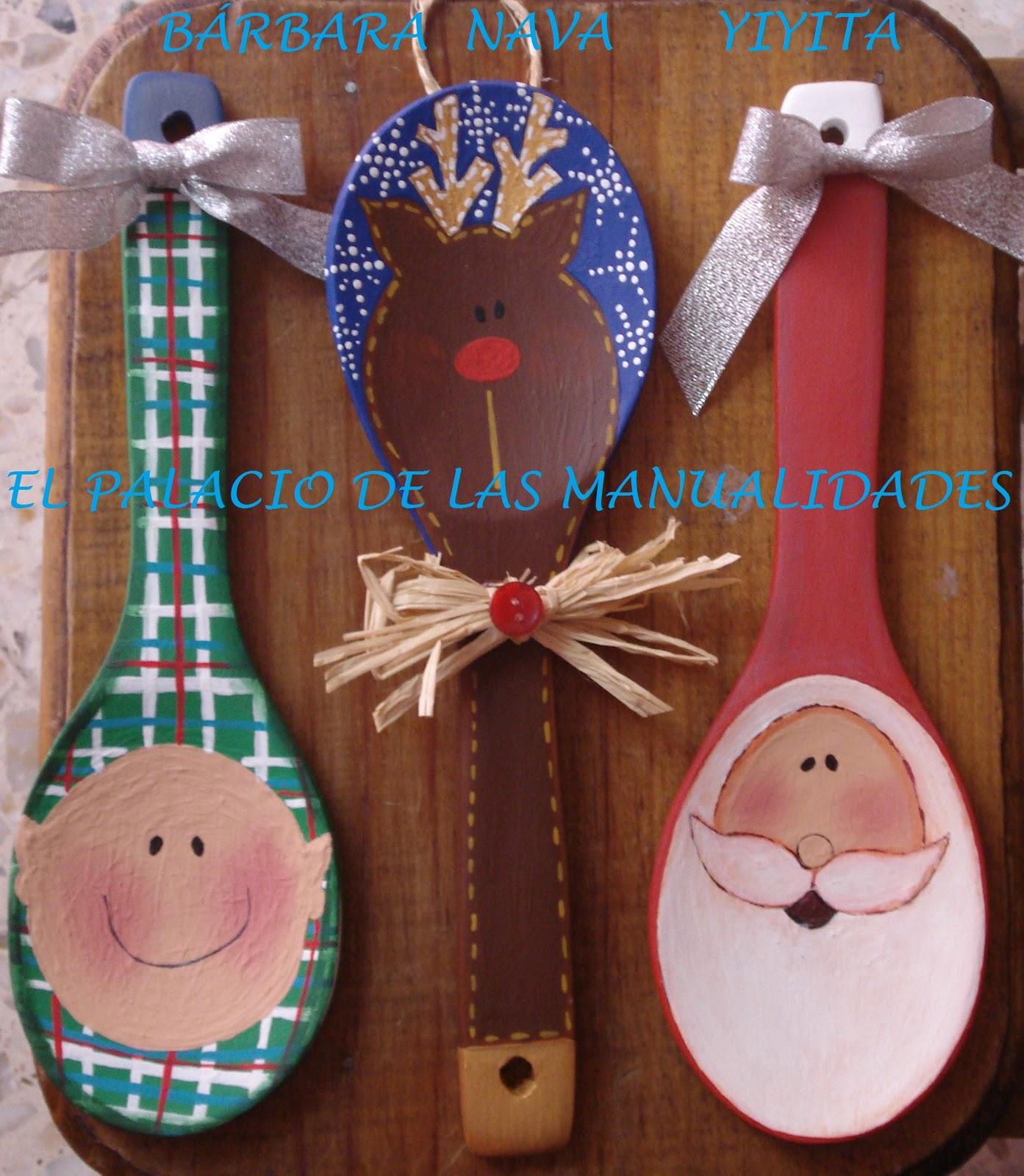 El palacio de las manualidades cucharas navide as for Utensilios de cocina queretaro
