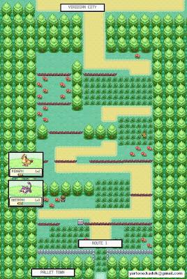 Pokemon Leaf Green Map
