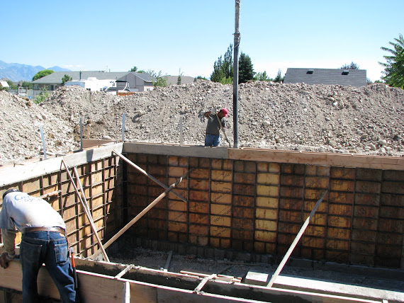 Pouring the Foundation Walls