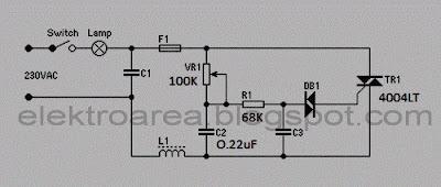Rangkaian Dimmer (Pengatur Contras Lampu 220V)