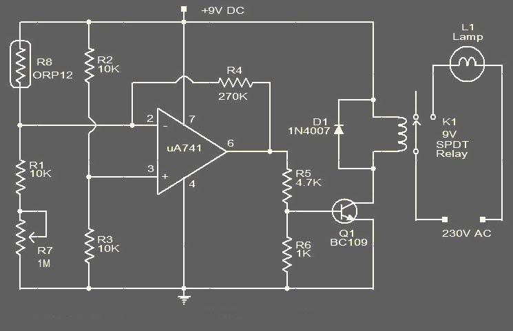 Lampu Otomatis Menggunakan Photocell Ldr Koleksi Skema