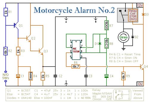 Ic 555 Motorcycle Alarm Circuit furthermore Risen besides 35w Audio  lifier Circuit By S 082 also Zero Degree Celsius Alarm further Rain Sensor Alarm Circuit L35854. on op amp with buzzer circuit diagram