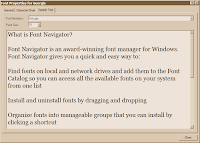 FontNav sampler