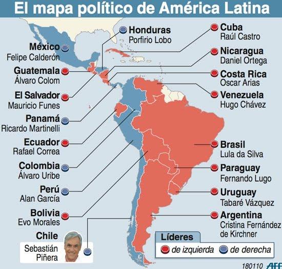 America+mapa+politico