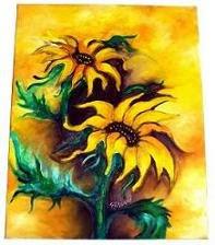 Girassois - Óleo sobre tela 40x50 cm