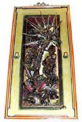 Cristo Pagão - Composição em relevo 60x120 cm