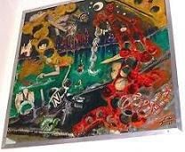 Consumo - Composição - Óleo sobre painel 80x85 cm