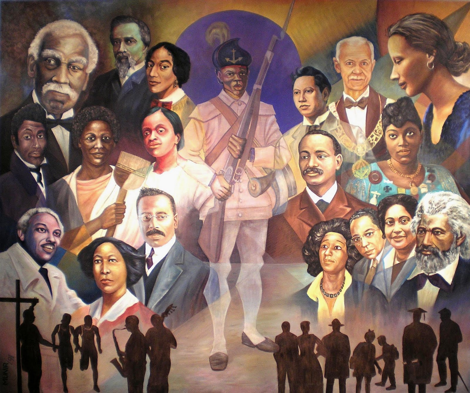 Providence art windows uri library for Black history mural