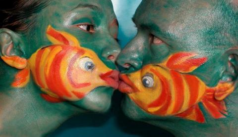 human and fish making love pictures