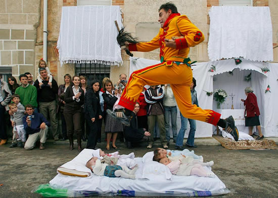 The Baby Jumping Festival Of Castillo