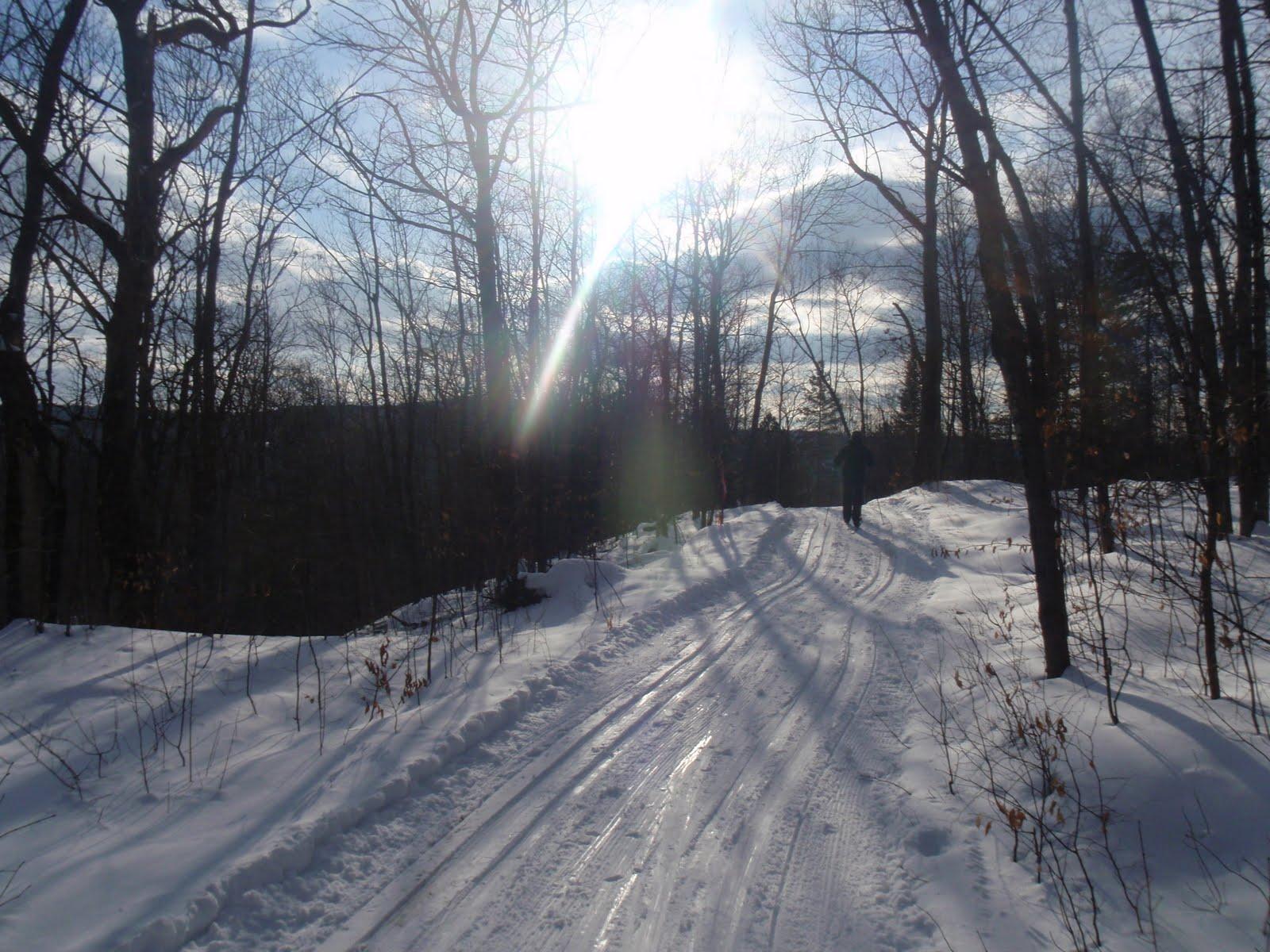 Chaise pliante ski de fond la montagne coup e - Montagne coupee ski de fond ...
