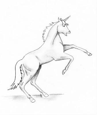 Единорог - рисунок