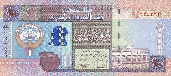 1 Kuwaiti Dinar to US Dollar