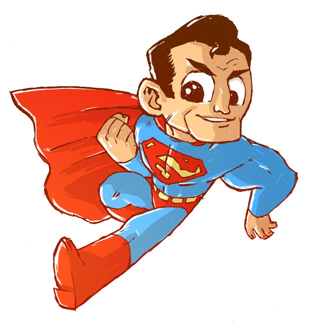 cute superman flying drawing - photo #16