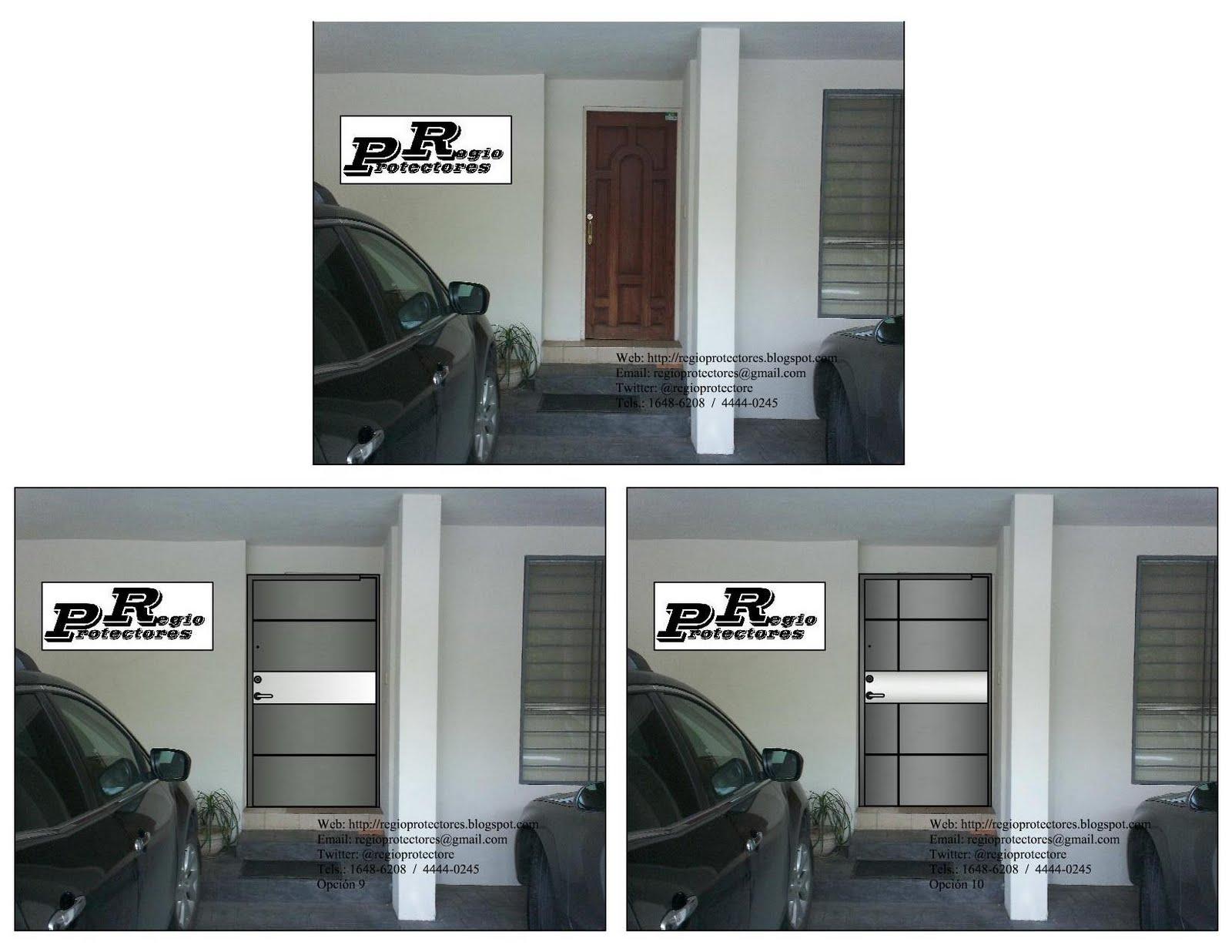 Regio protectores dise o de puerta principal de hierro for Disenos de puertas de hierro