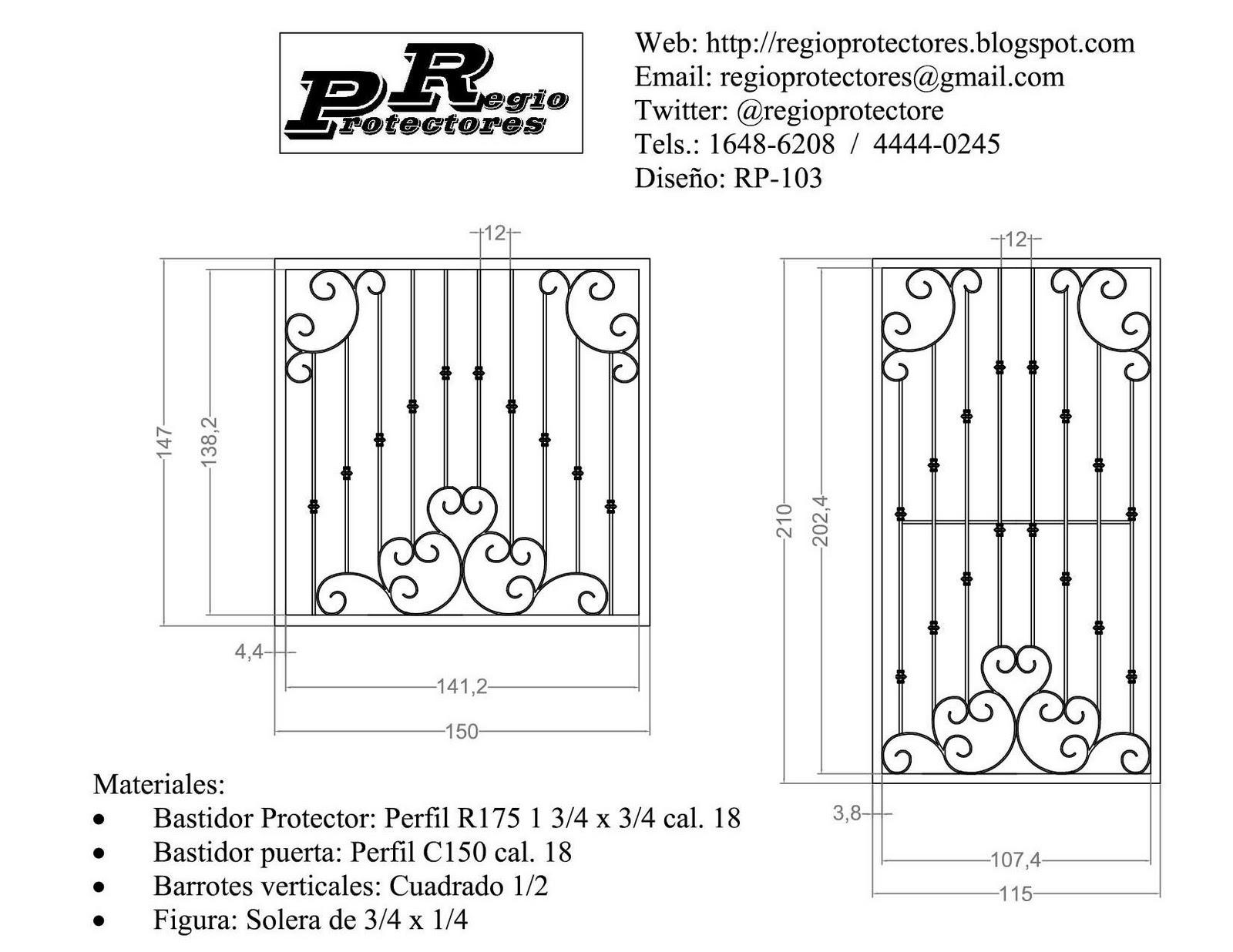 RP-042 Diseño de protectores para ventana estilo Clásico