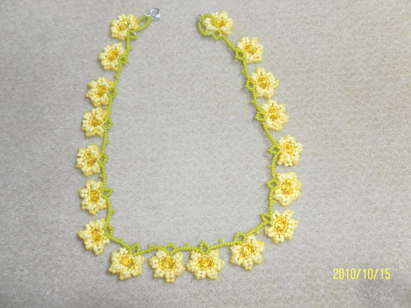 Its a beadiful day yellow flower necklace yellow flower necklace mightylinksfo