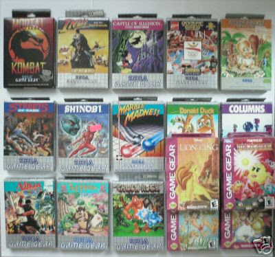 SEGA Game Gear Games boxed