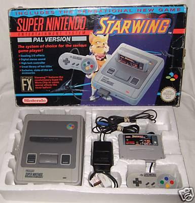 SNES Super Nintendo Starwing Edition