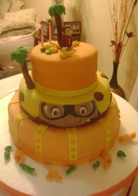 Torta Jorge El curioso 06 - Torta de queque ingles rellena