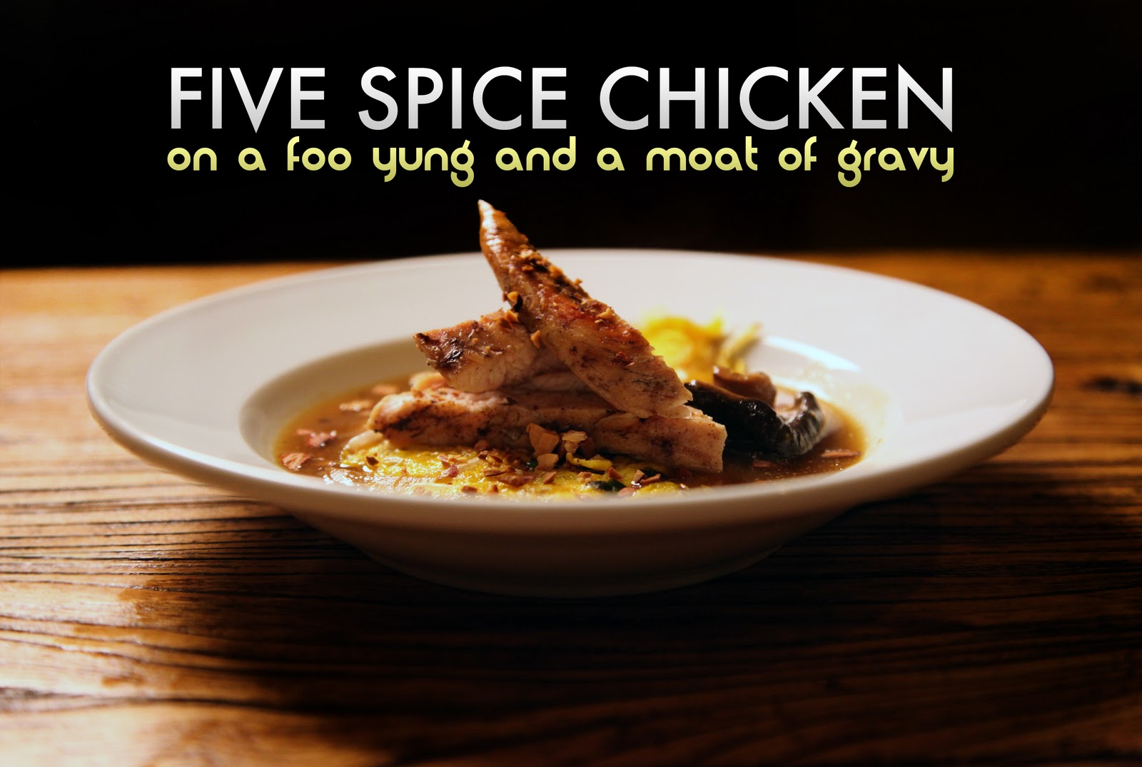 eats with the peeps: Grilled Five Spice Chicken on a Foo Yung with ...