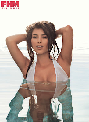 Kim Kardashian in South African FHM hot photos
