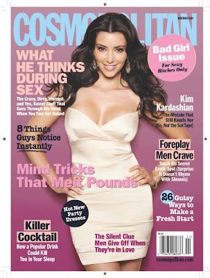 Kim Kardashian on the Cover of Cosmopolitan November 2009 photos