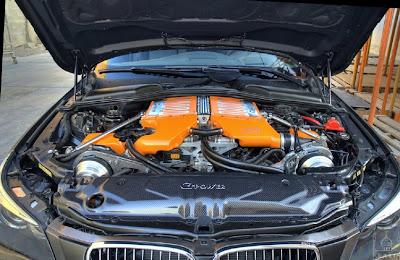 BMW M5 with 730 HP car bonet pics