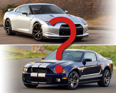 Nissan GT-R or Ford Mustang GT500 photos
