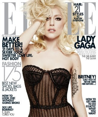 Lady Gaga Photo Shoot For ELLE Magazine January 2010 wallpapers