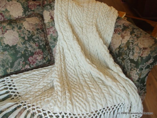 Sharondipity Designs: Celtic Aran Afghan Pattern