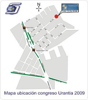 Mapa ubicación congreso de Urantia Bogota