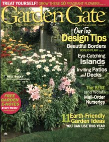 Garden Gate Magazine spread on a Buffalo garden