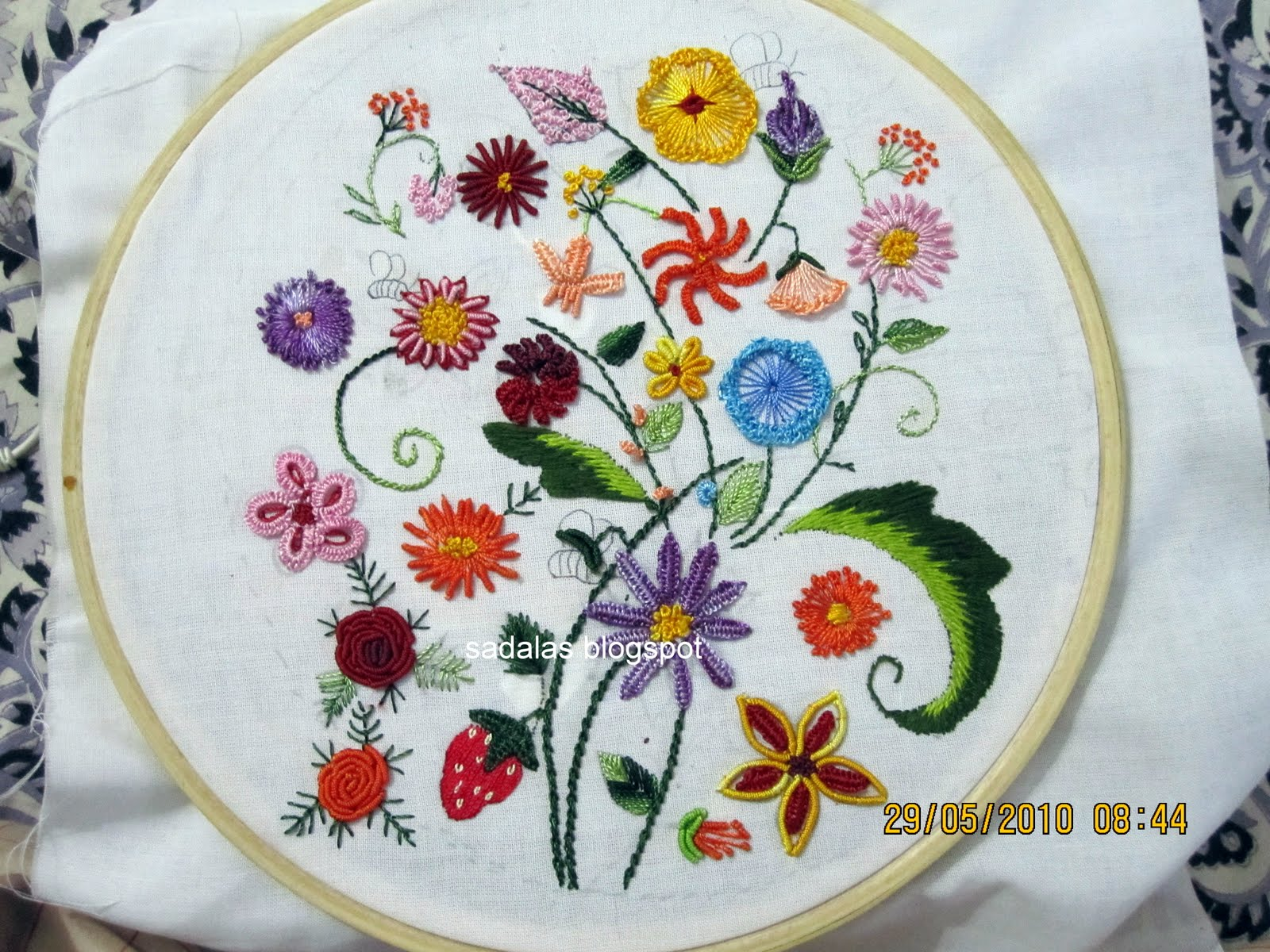 Embroidery stitches videos designs