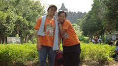Me and my GF at Borobudur Temple