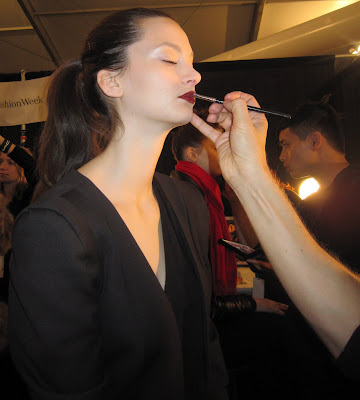 Georges Chakra, Georges Chakra Fall 2010, fashion week, New York Fashion Week, NYFW, Mercedes-Benz Fashion Week, Gregory Arlt, MAC Cosmetics, backstage beauty