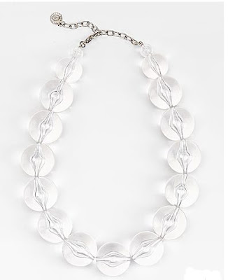 R.J. Graziano, R.J. Graziano Clear Lucite Bubble Necklace, R.J. Graziano necklace, R.J. Graziano jewelry, jewelry, necklace, jewel, jewels, Lucite, Lucite jewelry, Lucite necklace, bubble necklace, Lucite bubble necklace